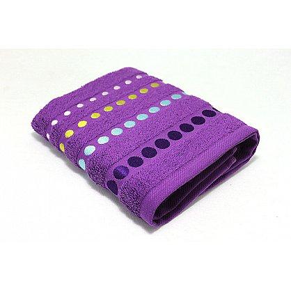 """Полотенце """"Диско"""" в новогодней упаковке, фиолетовый, 50*90 см (F-disco-f-50), фото 2"""