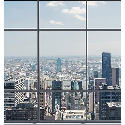 "Рулонная штора ролло термоблэкаут ""Вид на мегаполис"", 120 см-A (d-105754-A), фото 3"