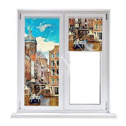 """Рулонная штора лен """"Амстердам"""", 68 см-A (d-103122-A), фото 1"""