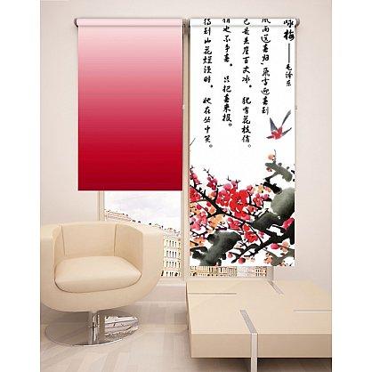 Рулонная штора ролло №241, красный, 60 см-A (dr-100118-A), фото 2