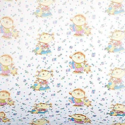 """Шторы """"Карусель"""", детская фантазия -2, синий (KRS-dfs2), фото 2"""