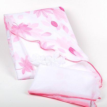 белый розовые листья