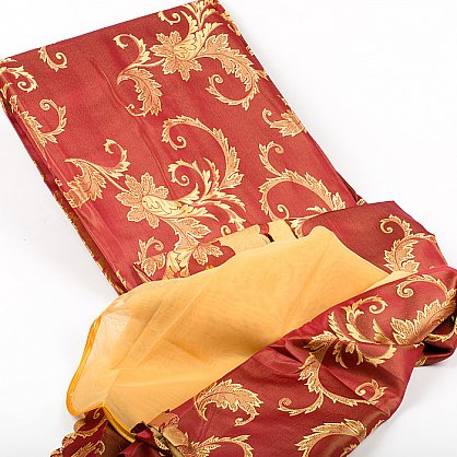 бордо-золотой цветок