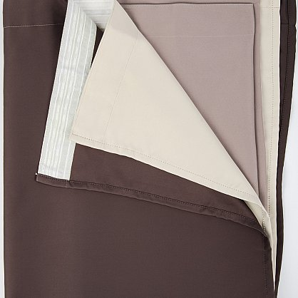Комплект штор №027, коричневый, какао, светло-бежевый (rt-100239), фото 2