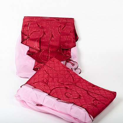 бордо с розовой оборкой-2