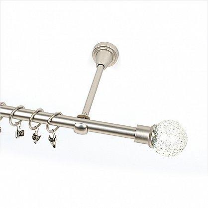 """Карниз металлический 1-рядный """"Билбао"""", хром матовый, гладкая труба, ø16 мм (kn-217), фото 1"""