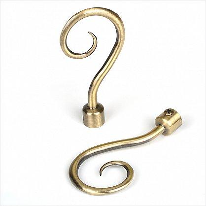 "Комплект наконечников для карниза ""Рейн"", золото антик (df-100135), фото 1"