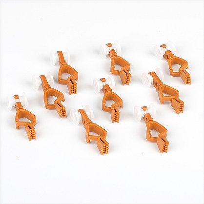 Комплект пластмассовых бегунков с зажимом для шины, вишня (df-100023), фото 1