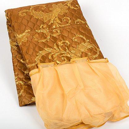 коричневый с золотым цветком