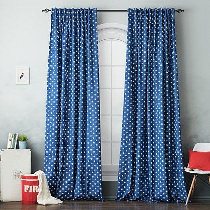 """Комплект штор """"Сири"""", синий, 170*270 см (bl-100843), фото 1"""