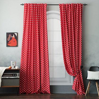 """Комплект штор """"Сири"""", красный, 170*270 см (bl-100845), фото 4"""