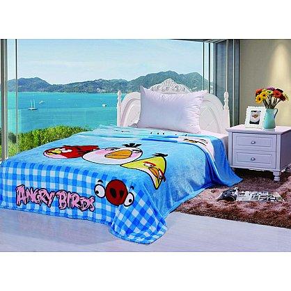 Плед детский Angry Birds №02, голубой, 150*200 см-A (tg-3024-02-A), фото 1