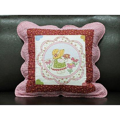 Наволочка Provance, Белый, Бордовый, Розовый, 45*45 см (tg-5029-55), фото 1