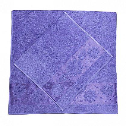 """Набор полотенец """"Florans"""", фиолетовый, 2 шт. (F-florans-f), фото 2"""