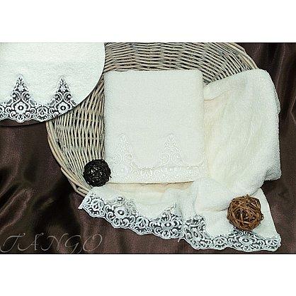 Комплект полотенец Barracouta Кружево (Cotton) в коробке (50*90; 70*140), молочный (tg-8322-03), фото 1