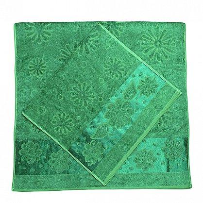 """Набор полотенец """"Florans"""", зеленый, 2 шт. (F-florans-zel), фото 2"""