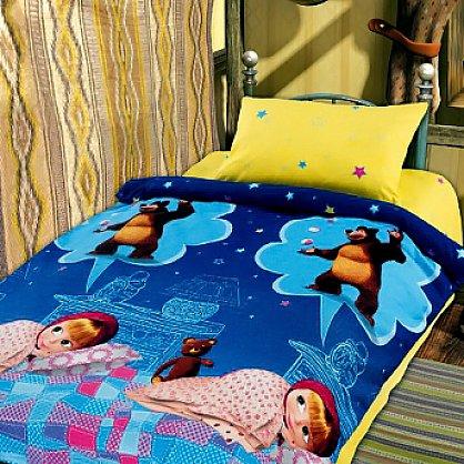 КПБ детский хлопок 'Маша и Медведь' baby вид 1 Машин сон (n-616), фото 1