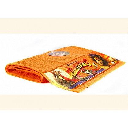"""Полотенце махровое 35*70 """"Непоседа"""" Мадагаскар оранжевый (218674), фото 1"""