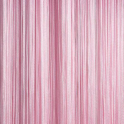 Кисея нитяная штора на кулиске однотонная - Розовая (C5), фото 1