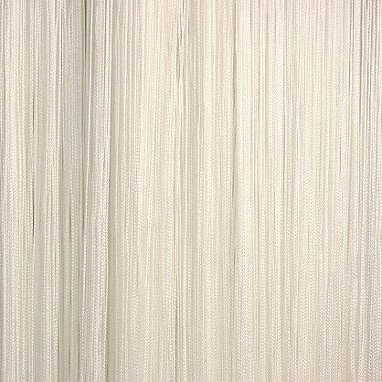 Кисея нитяная штора на кулиске однотонная - Белая (C1), фото 1