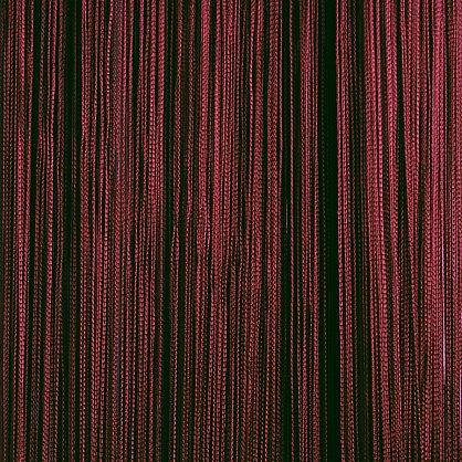 Кисея нитяная штора на кулиске однотонная - Бордовая (C4), фото 1
