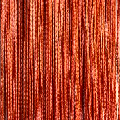 Кисея нитяная штора на кулиске однотонная - Терракот (C2), фото 1