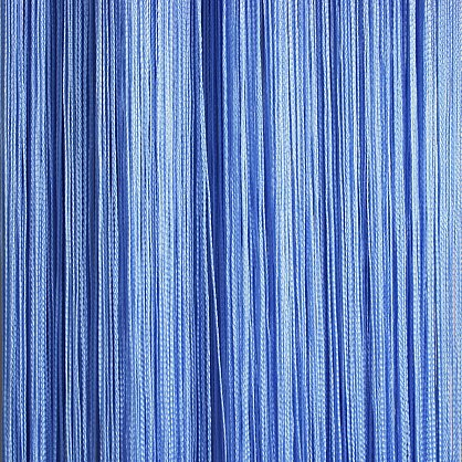 Кисея нитяная штора на кулиске однотонная - Голубая (C11), фото 1