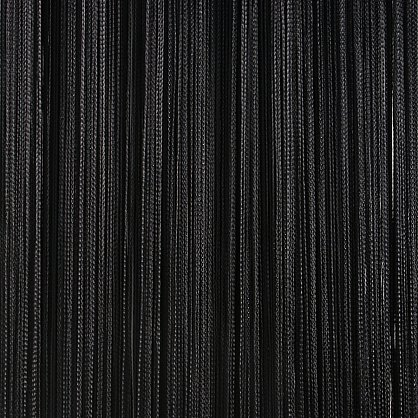 Кисея нитяная штора на кулиске однотонная - Черная (C9), фото 1