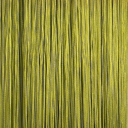 Кисея нитяная штора на кулиске однотонная - Васаби (C19), фото 1