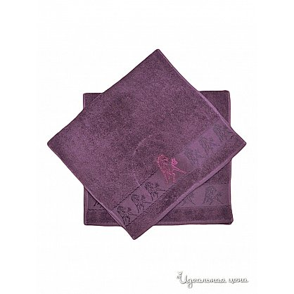 "Набор полотенец ""Мустанг"", фиолет, 2 шт. (F-mustang-fiol), фото 3"
