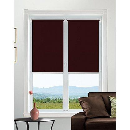"Рулонная штора mini ""Satin"", бордовый, 48 см-A (4503-48-mini-A), фото 1"