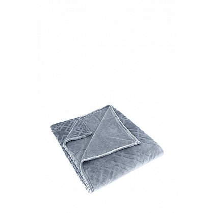 "Плед вельсофт жаккард ""KARNA PIRAMIT"", темно-серый (kr-200831-gr), фото 2"