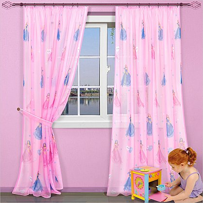 "Шторы ""Карусель"", Барби на розовом (KRS-barbi-roz), фото 1"