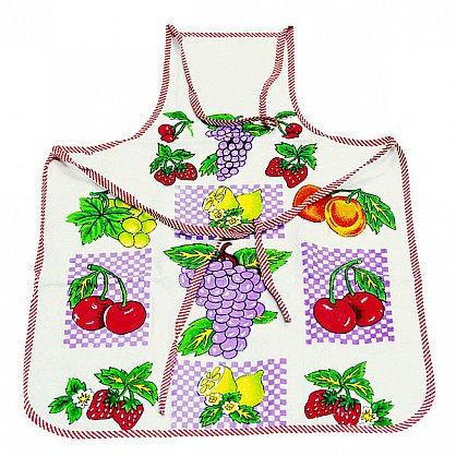 Фартук махровый клеенчатый, фрукты-1 (f-fart-fr-1), фото 1
