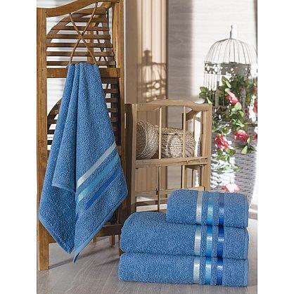 Комплект из 4-х махровых полотенец Vevien Ekonomik (50*90; 70*140), светло-синий (mt-100582), фото 1