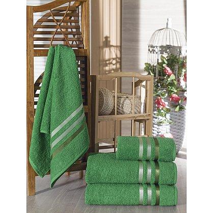 Комплект из 4-х махровых полотенец Vevien Ekonomik (50*90; 70*140), темно-зеленый (mt-100585), фото 1
