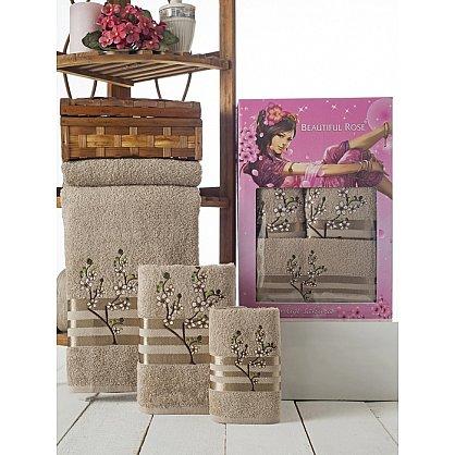 Комплект полотенец Rose Moonlight Sakura в коробке (30*50; 50*90; 70*140), коричневый (mt-100505), фото 1