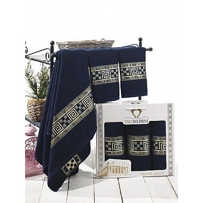 Комплект из 3-х полотенец Krinkil Greek в коробке (50*90; 70*140), синий (mt-100662), фото 1