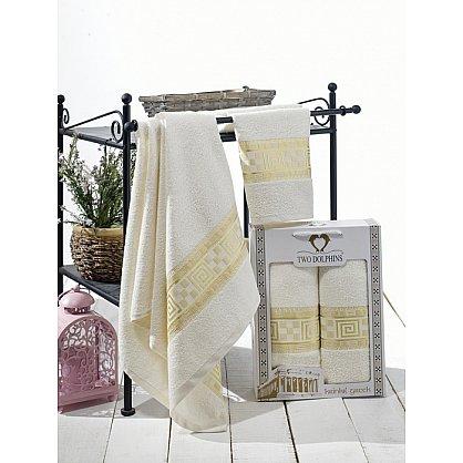 Комплект из 2-х полотенец Krinkil Greek в коробке (50*90; 70*140), кремовый (mt-100616), фото 1