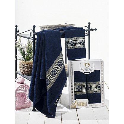 Комплект из 2-х полотенец Krinkil Greek в коробке (50*90; 70*140), синий (mt-100617), фото 1
