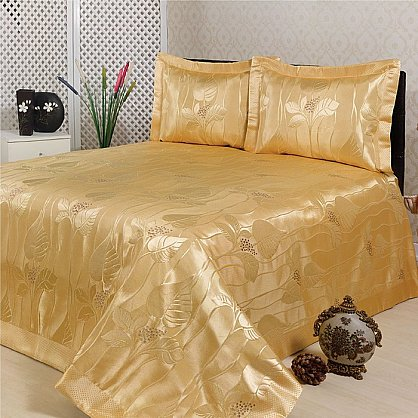 Покрывало Nazsu Yaprak, золотой, 240*260 см (mt-100775), фото 1