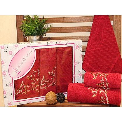 Комплект махровых полотенец Ayak в коробке (50*70; 50*90; 70*140), бордовый (mt-100556), фото 1