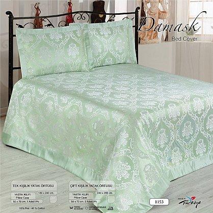 Покрывало Nazsu Damask, зеленый, 240*260 см (mt-100744), фото 1