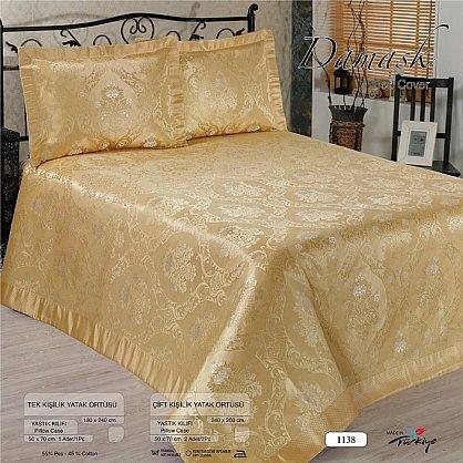 Покрывало Nazsu Damask, золотой, 240*260 см (mt-100745), фото 1