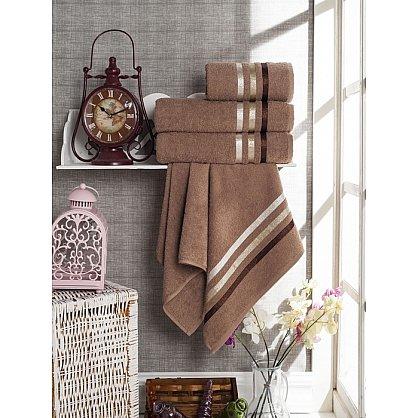 Комплект из 4-х махровых полотенец Vevien Ekonomik (50*90; 70*140), коричневый (mt-100577), фото 1