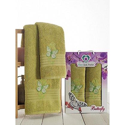 Комплект из 2-х полотенец Butterfly в коробке (50*90; 70*140), зеленый (mt-100640), фото 1