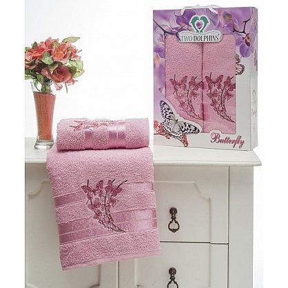Комплект из 2-х полотенец Butterfly в коробке (50*90; 70*140), розовый (mt-100643), фото 1