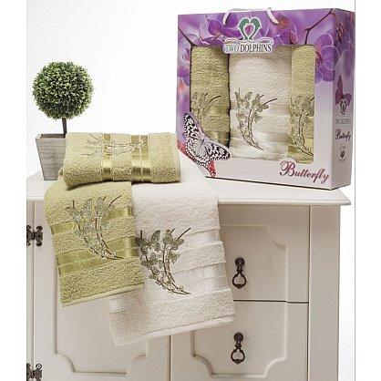 Комплект из 3-х полотенец Butterfly в коробке (50*90; 70*140), зеленый (mt-100632), фото 1