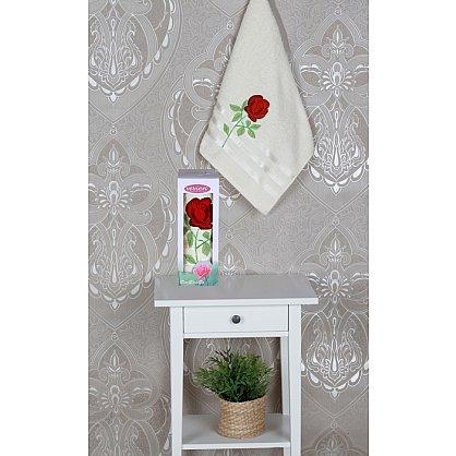 Полотенце Vevien Роза в коробке, кремовый, 50*90 см (mt-100588), фото 1