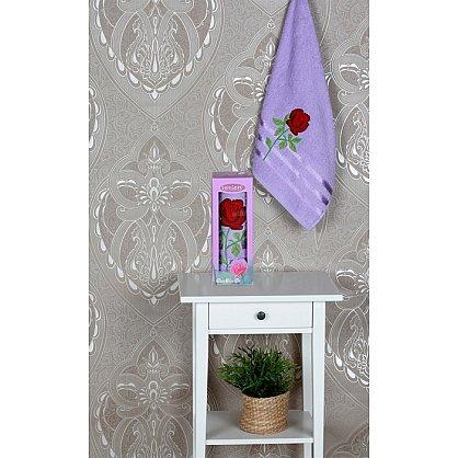 Полотенце Vevien Роза в коробке, лиловый, 50*90 см (mt-100589), фото 1